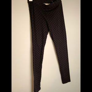 Lauren Conrad Polka dot black leggings